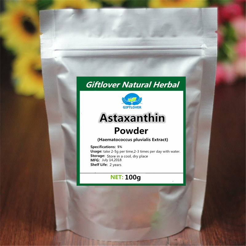 High quality 5% Astaxanthin Powder,Haematococcus pluvialis Extract for anti aging anti cancer,C40H52O4,[CAS]472-61-7,Best Choose herb extract high quality selfheal spike extract powder 200g lot