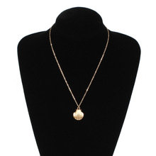 Summer Beach Metal Shell Long Chain Necklace Pendants Women Conch Bohemian Gold Silver Clavicle Jewelry