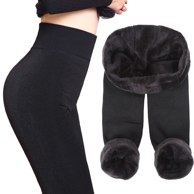 Thick Fleece Leggings Women Leggins Winter Legging Womens Legins Warm Work Out Elastic Push Up Pants Skinny Pants For Women
