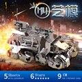 Mu 3d puzzle de metal ferro pioneer carros blindados ym-n013 modelo de construção diy 3d jigsaw brinquedos de montar para auditoria de corte a laser