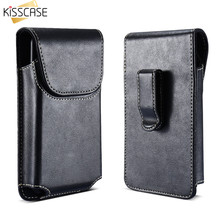 "KISSCASE Universal Belt Bag PU Leather Magnetic Buckle Phone Case Pouch 4.7/5.5"" For iPhone 6 6S 7 8 Plus 5 5S SE Clip Phone Bag(China)"