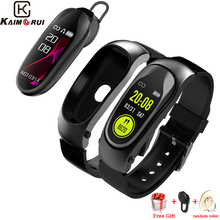 Fitness Bracelet Heart Rate Bluetooth Headset Answer Call Smart Band with Earphone for Xiaomi Huawei Fitness Tracker Watch Men все цены