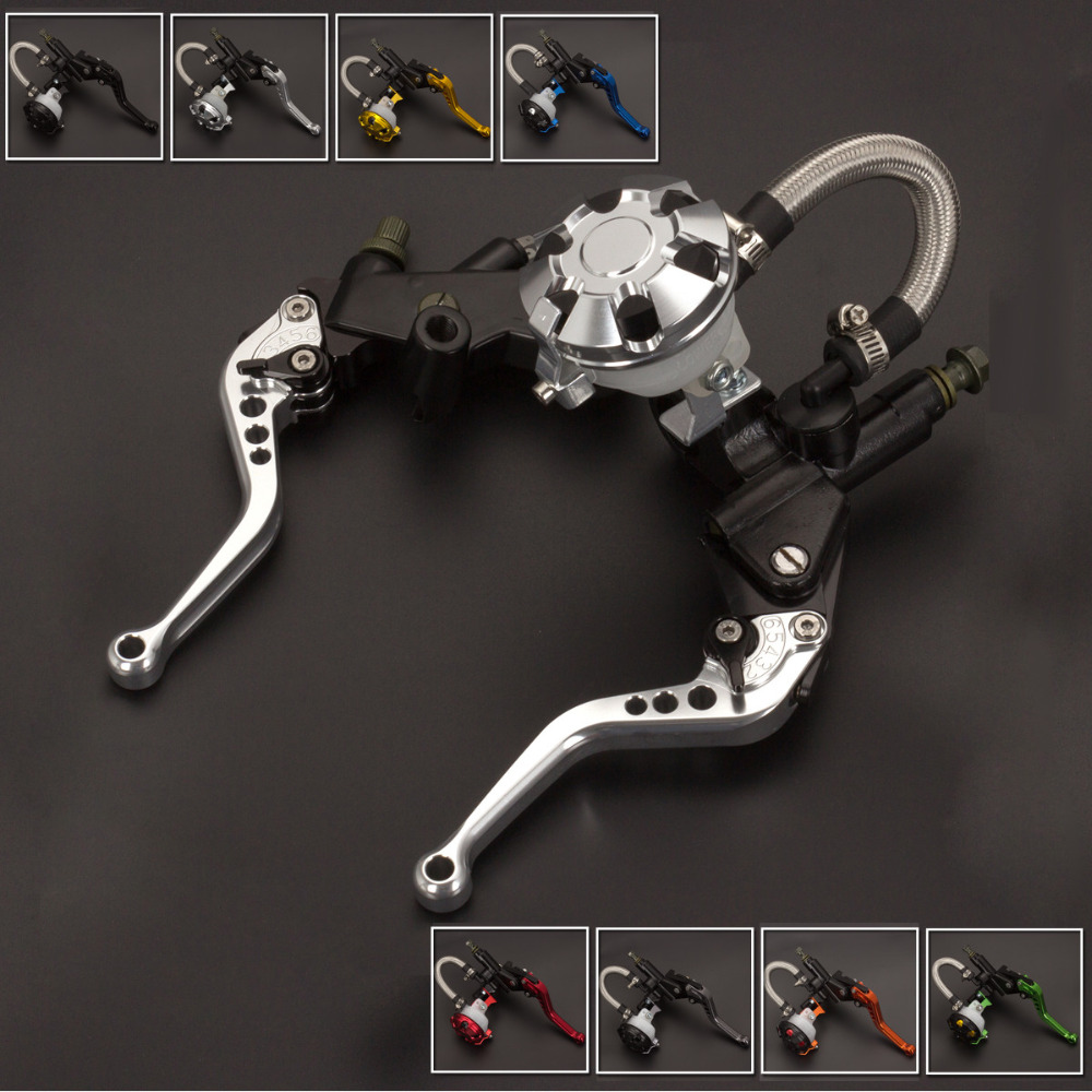 FX CNC 7/8 Motorcycle Brake Clutch Lever Master Cylinder Reservoir Hydraulic For Yamaha DT125X 2005 Motorcycles Accessories 7 8 22mm universal motorcycles brake clutch levers master cylinder reservoir for suzuki 125 300cc moto hydraulic brake lever