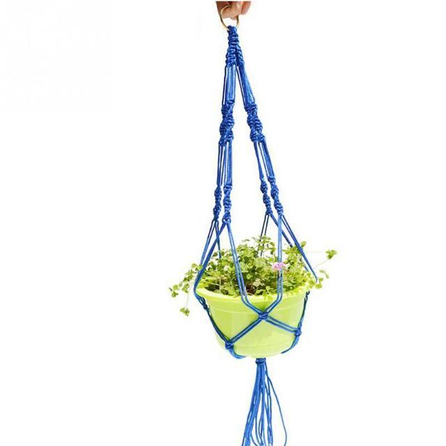 Garden Potted Plants Holding Net Plant Pot Hanger Macrame Jute For Indoor Outdoor Ceiling Holder Hanging Baskets