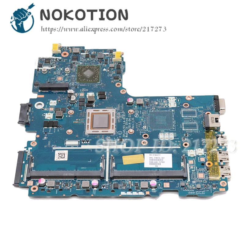 NOKOTION FOR <font><b>HP</b></font> PROBOOK <font><b>455</b></font> G2 Laptop <font><b>Motherboard</b></font> 773074-001 ZPL45 55 LA-B191P main board W/ FOR A8-7100 CPU ddr3 image