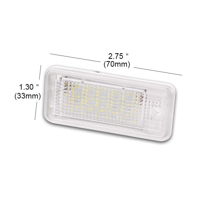 Car Led Number License Plate Light White 6000k 3W 18 SMD Led Bulb Number Plate For Audi A4 A6 C6 A3 B6 B7 S6 A8 Q7
