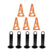 5 Pack Durable Sports Cones Skating Football Training Workout Marker and Disc Holder  for Kids Field Activity