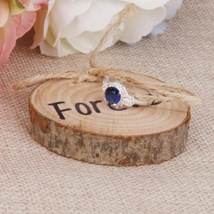 1pcs Rustic Wood Craft Wedding Ring Holder Vintage Engagement Box Wooden For In Party Diy Decorations From Home