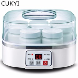 CUKYI Fully automatic Household 1.5L Multifunctional yogurt machine Making natto/rice wine/red wine with 8 cups microcomputer