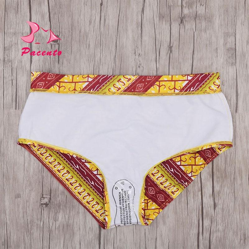 c50aca0ebc Bikini 2018 African Print Swimsuits Off Shoulder Bikini Set Brazilian  Swimwear Female High Waisted Bathing Suit Plus Size Plavky-in Bikinis Set  from Sports ...