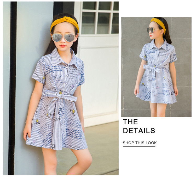 74d059df910a 2018 summer kids girls teen 12 years old dresses pin blue -in Dresses from  Mother   Kids on Aliexpress.com