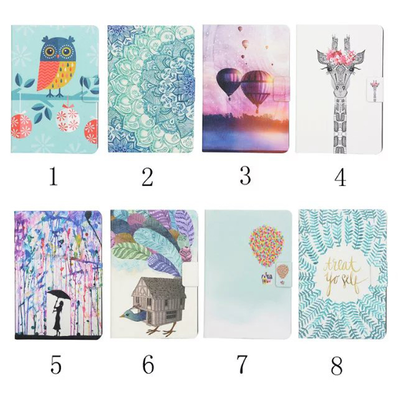 Colorful Painted flip Leather Book Case Cover For Amazon For new kindle 2016 8th generation E-reader funda cases cartoon painted flower owl for kindle paperwhite 1 2 3 case flip bracket stand pu cover for amazon kindle paperwhite 1 2 3 case