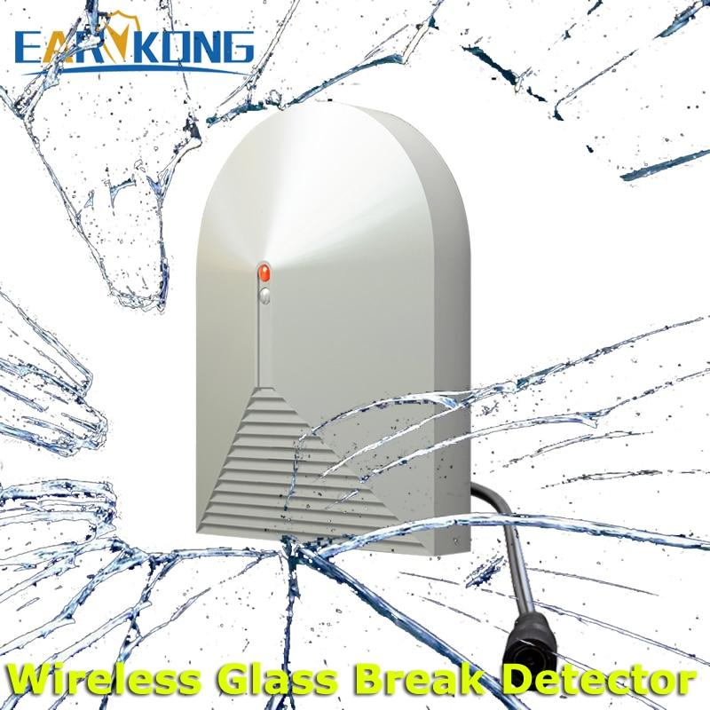 433Mhz Wireless Glass Break Detector, DC 12V Work, Vibration Detector, For Home Burglar Alarm System, цена