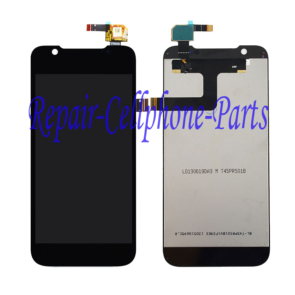 Black 100% New Full LCD DIsplay+Touch Screen Digitizer Assembly Replacement For ZTE Grand Era V985 Free shipping , 100% Tested