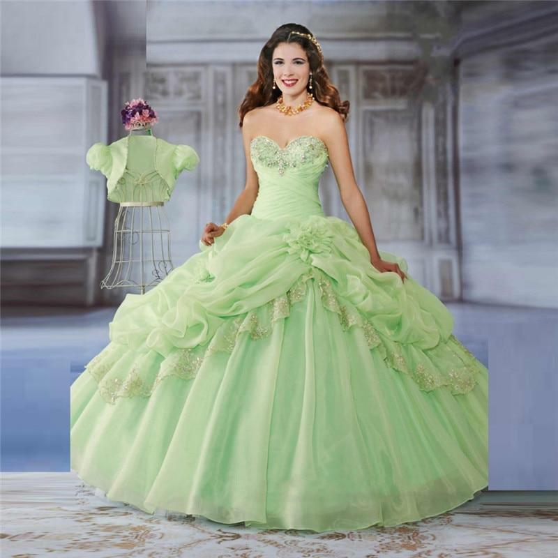Popular Light Green Quinceanera Dresses-Buy Cheap Light Green ...