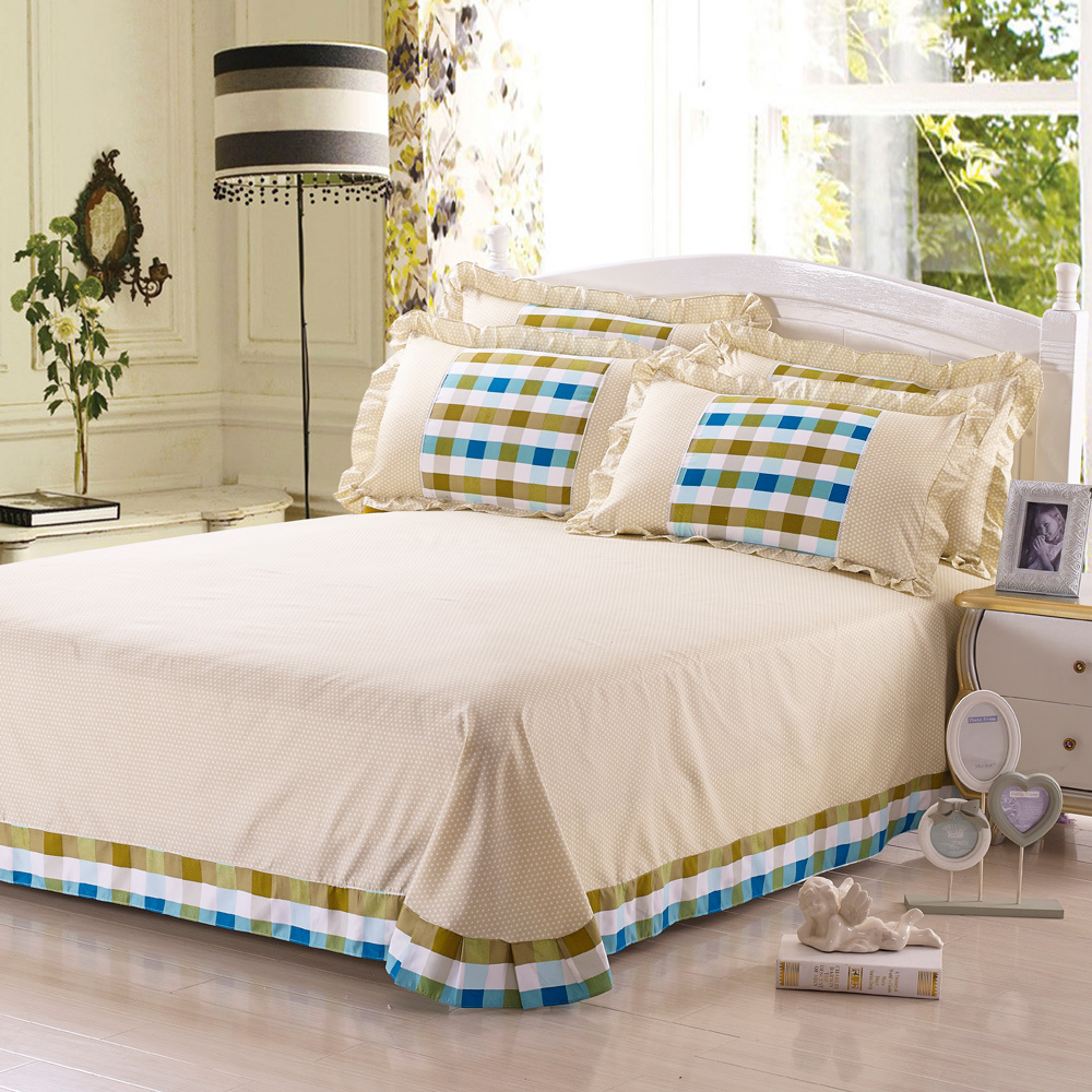 4PCS Full Size Teen Bedding Sets Cheap Comforters Blue White Green Brown  Classical Striped Plaid Luxury Comforter Set In Bedding Sets From Home U0026  Garden On ...