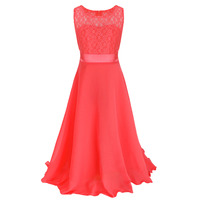 Teens Girl Lace Dress 2017 Fashion Girls Dresses Kids Clothes Wedding Party Children Evening Clothing Teenage