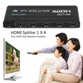Professional 4K X 2K HDMI Splitter 1 X 4 4 Port HDMI Hub Repeater Amplifier 3D 1 In 4 Out with Power Supply