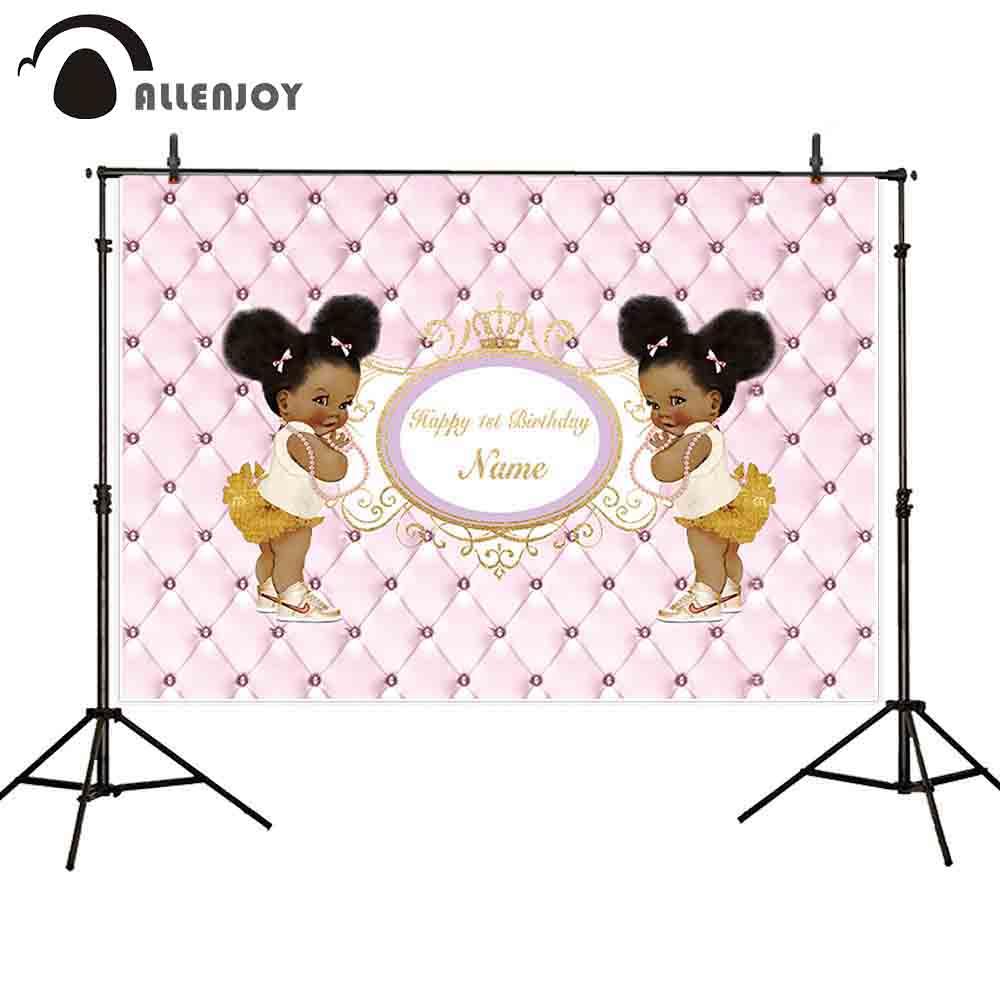 Allenjoy Photo Zone Backgrounds Pink Headboard Black Cute Girl