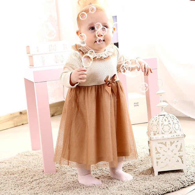a61e4914c Newborn Baby Girls First Birthday Lace Dresses Clothes Infant ...