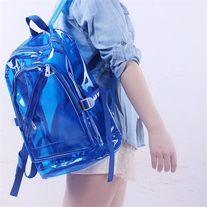 Designer Waterproof Wear-resistant School Bag Transparent Backpack Multifunctional Environmentally for Girl Campus Shoulder BagsDesigner Waterproof Wear-resistant School Bag Transparent Backpack Multifunctional Environmentally for Girl Campus Shoulder Bags