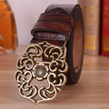 genuine leather belts for women fashion summer style female strap womens belt vintage floral pin buckle woman cintos