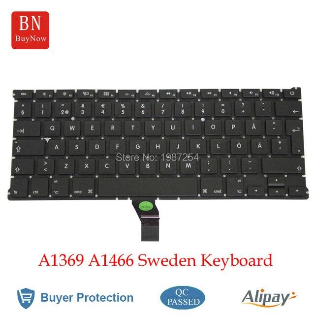 Новая швеция клавиатура для Apple Macbook Air 13 '' A1369 A1466 шведский швеция клавиатура