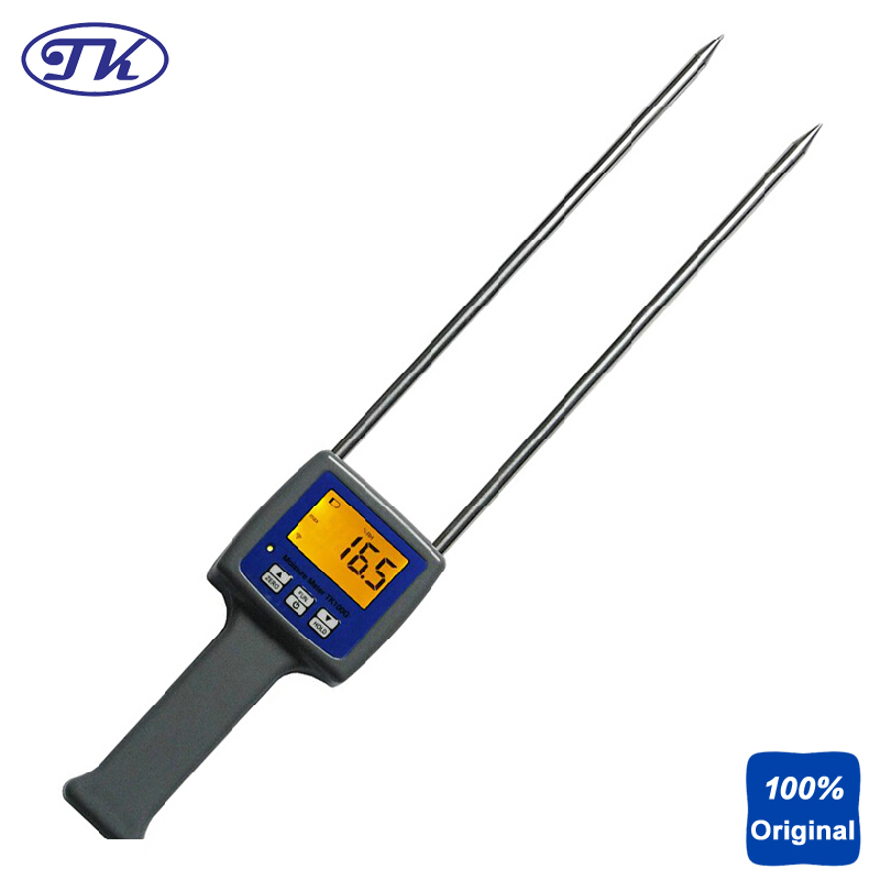 Digital Flour Moisture Tester Powder Grain Moisture Meter TK100G11 grain moisture meter lcd display digital grain moisture tester contains wheat corn rice humidity tools atc and backlight