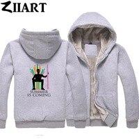 Custom Made Printing Logo Picture Text ect. Boys Man Plus Velvet Parkas couple clothes ZIIART