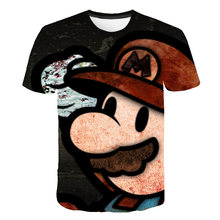 Mensand womens cartoon 3D fashion super marl T shirt new summer foreign trade for hot digital printing short sleeve t-shirt