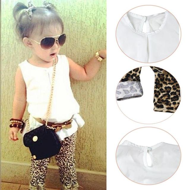 Hot Sale New 3pcs Child Baby Girl clothes outfits Kid girl Fashion  Sleeveless T-shirt 7bfc1154e
