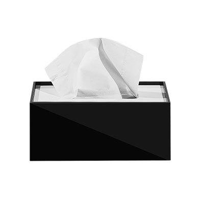 Простая прямоугольная акриловая коробка для салфеток для офиса отеля KTV настольная бумажная коробка для хранения полотенец декоративная коробка - Цвет: C