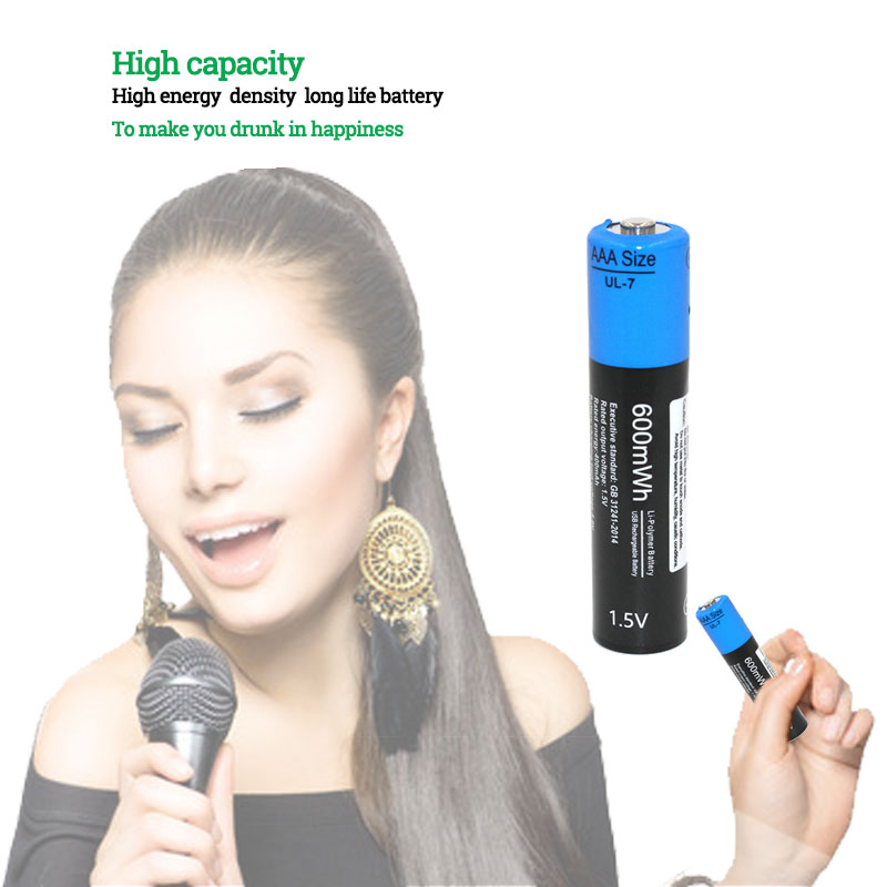 NEW battery! 6pcs/lot Etinesan 1.5V AAA 600mwh li polymer li ion lithium rechargeable battery with USB charging cable-in Replacement Batteries from Consumer Electronics    2