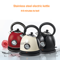 Household Stainless Steel Electric Kettle With Thermometer Instant Water Boiler Water Heater 1.8L Office 220V 1850 2200w 1pc