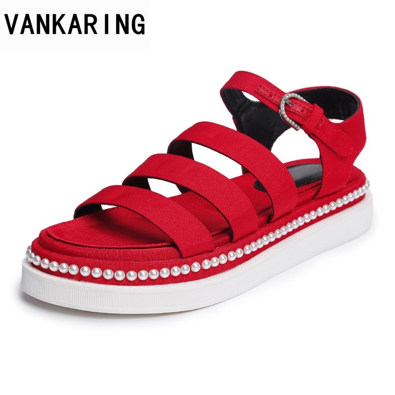VANKARING summer women sandals wedges footwear 2018 new fashion casual high heels shoes leisure concise style date party shoes facndinll new women summer sandals 2018 ladies summer wedges high heel fashion casual leather sandals platform date party shoes