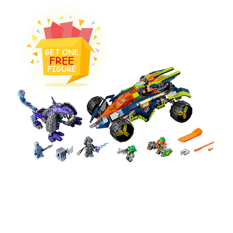 Bela Pogo Compatible Legoe 10704 Nexus Nexo Knights Powers Pouvoirs Aaron Lance Clay Building Blocks Bricks toys for children lepin 14004 knights beast master chaos chariot building bricks blocks set kids toys compatible 70314 nexus knights 334pcs set