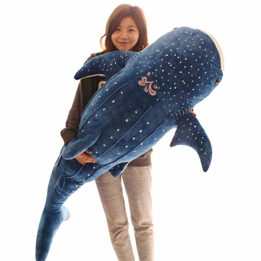 Fancytrader Huge Soft Blue Whale Plush Doll Big Giant Stuffed Animals Shark Pillow Toys Kids Play Doll Nice Gifts mr froger carcharodon megalodon model giant tooth shark sphyrna aquatic creatures wild animals zoo modeling plastic sea lift toy