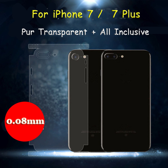 the latest 33e7f d0698 US $1.99 |2 Pcs For Apple iPhone 7 / 7 Plus Ultra Thin Full Coverage  Protection Back Clear Film Pure Transparent Screen Protector-in Phone  Screen ...
