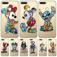 Luxury Mickey Stitch For Huawei Honor 10 9 8 8X 8C 7A 7C 7X 7 6X 6A 20 Pro V20 20i Lite phone Case Cover Funda Coque Etui capa(China)