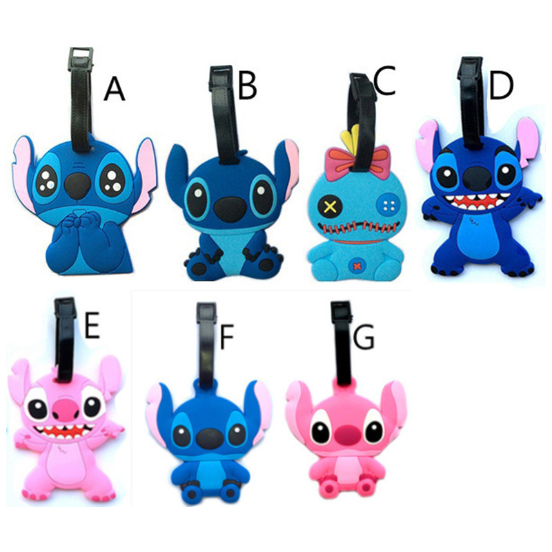 2018 Fashion Stitch Suitcase Luggage Tag Travel Accessories Cute Cartoon ID Address Holder Baggage Label Silica Gel Identify