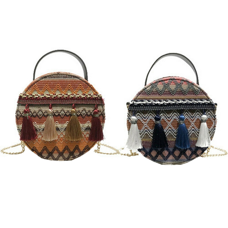 Women Bag Tote Shoulder-Bags Beach-Bag Tassel Fashion Handbag Small Wind-Design Chinese