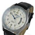 Moda WINNER Relógios Dos Homens Auto Vento Relógio Mecânico Automático AUTO Data Analógico relógio de Couro Dos Homens do Esporte relógio de Pulso Relogio masculino