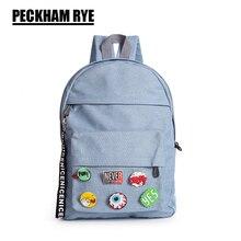 Fashion design rucksack blau jeans frauen rucksack schultasche frauen-tasche laptop rucksack reise weibliche mochila escolar
