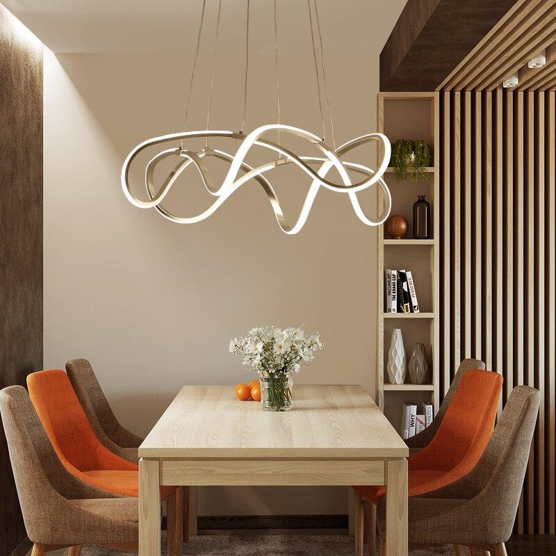 Moderne LED Esszimmer Licht Wohnzimmer Kreative Kronleuchter Lustre  AC90 260V Fernbedienung Dimmen Kronleuchter Leuchten