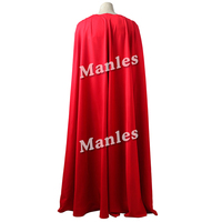 Superman Justice League Cosplay Costume Cloak Clark Kent Red Long Cape For Halloween Party New Year Superman Costumes For Men