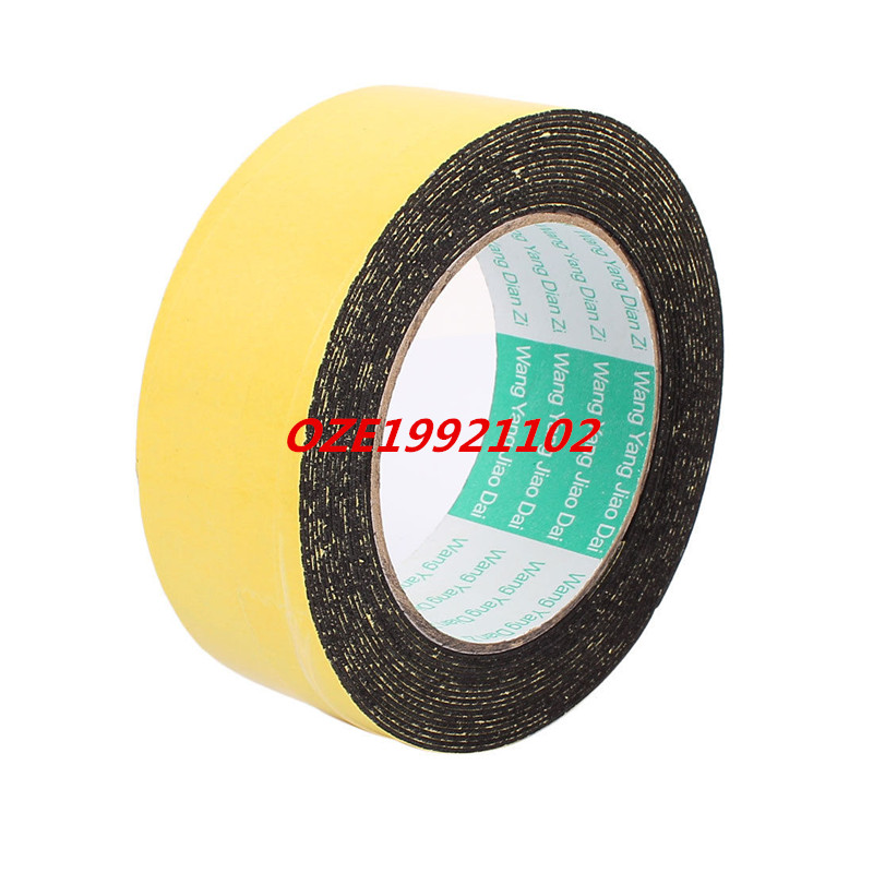 40mm x 1mm Single Sided Self Adhesive Shockproof Sponge Foam Tape 5M Length 2pcs 2 5x 1cm single sided self adhesive shockproof sponge foam tape 2m length