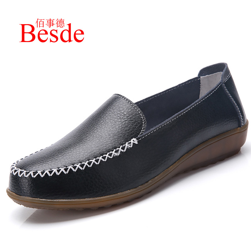 Big size 42/43/44 shoes woman flats spring 2019 new arrival real genuine leather flats womens shoes sapato femininoBig size 42/43/44 shoes woman flats spring 2019 new arrival real genuine leather flats womens shoes sapato feminino