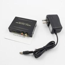 Цельнокроеное платье Высокое качество 1080 P HDMI к HDMI оптический + SPDIF + RCA L/R extractor конвертер аудио сплиттер черный США Plug/ЕС Plug