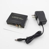 1 Piece High Quality 1080P HDMI to HDMI Optical + SPDIF + RCA L/R Extractor Converter Audio Splitter Black US Plug/EU Plug