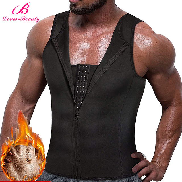 Lover Beauty mannen Afslanken Vest Zweet Shirt Body Shaper Taille Trainer Shapewear Mannen Top Staal Uitgebeend Shapers Kleding Mannelijke